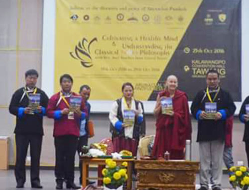 "First Volume Of Book ""Seeds Of Nirvana"" Released  By Anyi Yangchen La In Presence of MLA Tsering Tashi"
